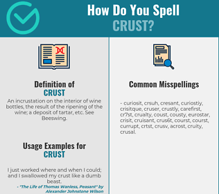 Correct spelling for crust