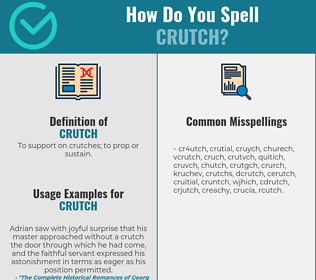 Correct spelling for crutch