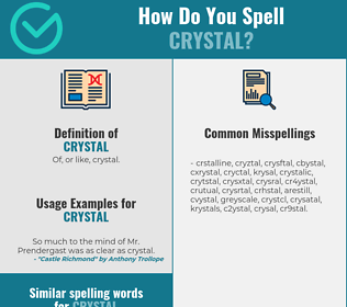 Correct spelling for crystal