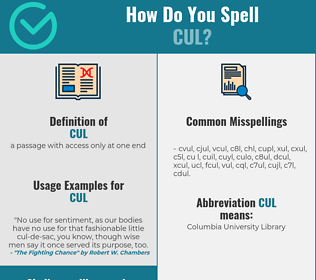 Correct spelling for cul