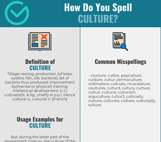 Correct spelling for culture