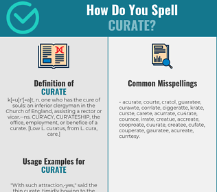 Correct spelling for curate