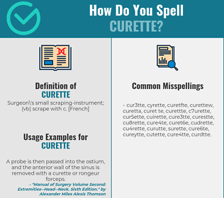 Correct spelling for curette