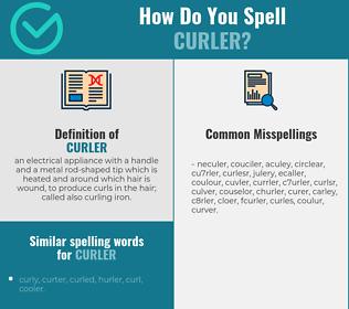 Correct spelling for curler