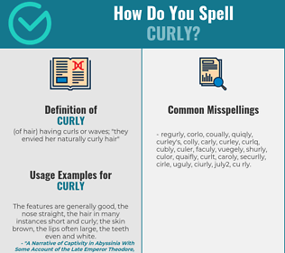 Correct spelling for curly