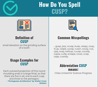 Correct spelling for cusp