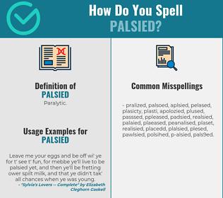 Correct spelling for palsied