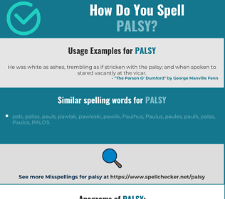 Correct spelling for palsy