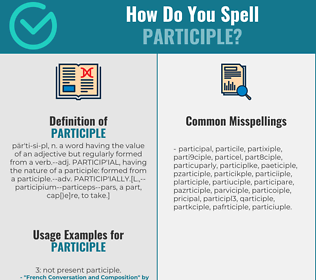 Correct spelling for participle