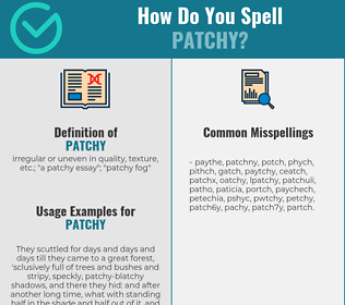 Correct spelling for patchy