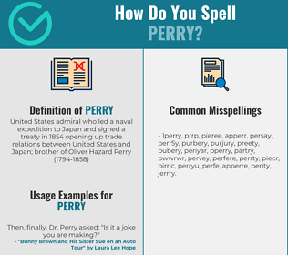 Correct spelling for perry
