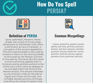 Correct spelling for persia