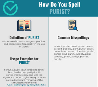 Correct spelling for purist