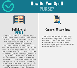 Correct spelling for purse