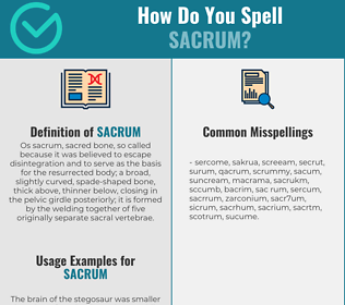 Correct spelling for sacrum