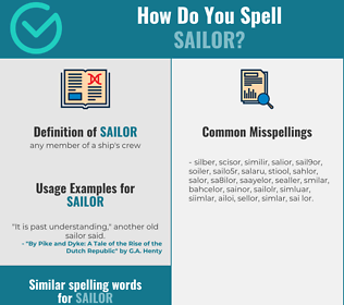 Correct spelling for sailor