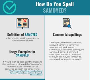 Correct spelling for samoyed
