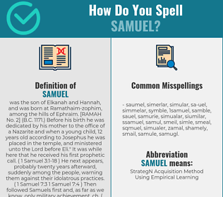 Correct spelling for samuel