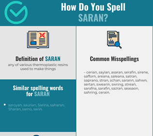 Correct spelling for saran