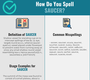 Correct spelling for saucer
