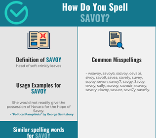 Correct spelling for savoy