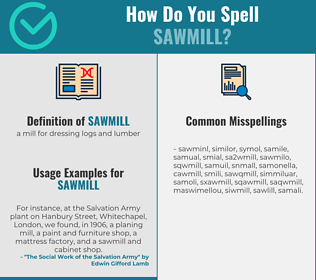 Correct spelling for sawmill