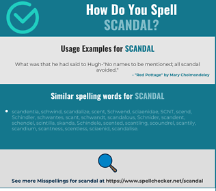 Correct spelling for scandal