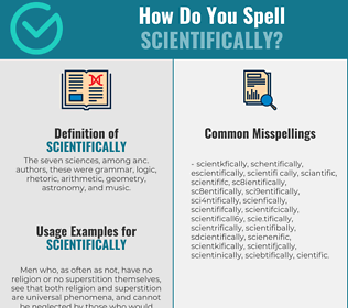 Correct spelling for scientifically
