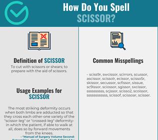 Correct spelling for scissor