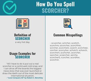 Correct spelling for scorcher