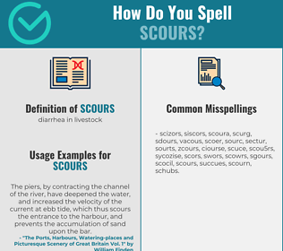 Correct spelling for scours