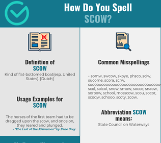 Correct spelling for scow