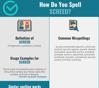 Correct spelling for screed