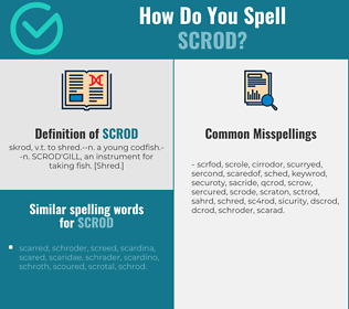 Correct spelling for scrod