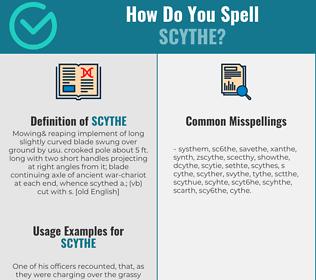 Correct spelling for scythe
