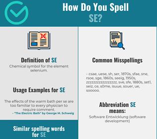 Correct spelling for se
