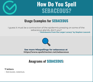 Correct spelling for sebaceous