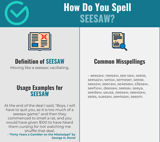 Correct spelling for seesaw