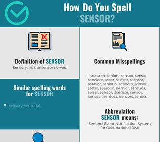 Correct spelling for sensor