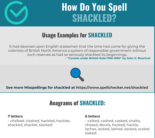 Correct spelling for shackled