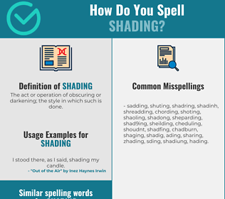 Correct spelling for shading