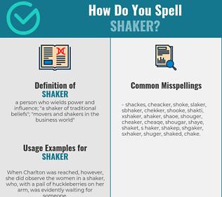 Correct spelling for shaker