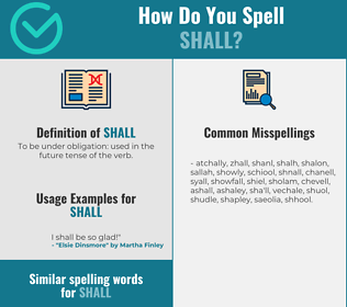 Correct spelling for shall