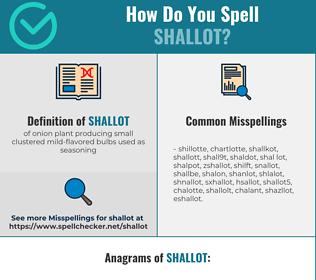 Correct spelling for shallot