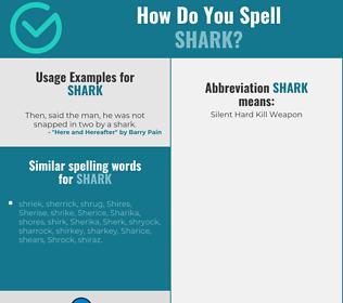 Correct spelling for shark