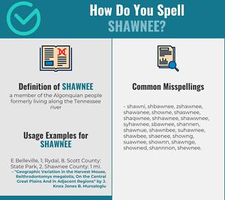 Correct spelling for shawnee
