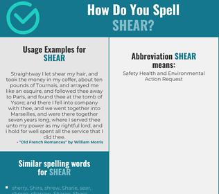 Correct spelling for shear