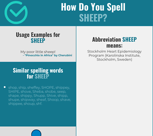 Correct spelling for sheep