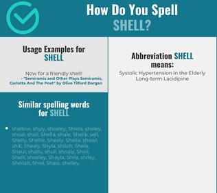 Correct spelling for shell