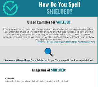 Correct spelling for shielded